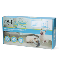 AFP Lifestyle 4 Pet-3 In 1 Elevated Double Dinner - S