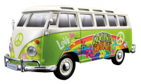 VW Bus Samba Hippie Line
